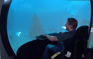 Undersea simulator for 3D dome display