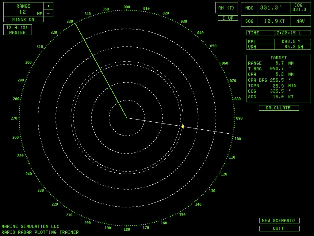 Nautical Software Radar Simulator PC Software Specifications & Pictures