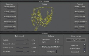 ROV Designer and Settings