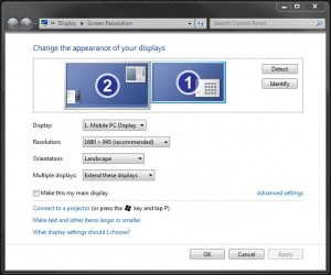 Windows Monitor Settings